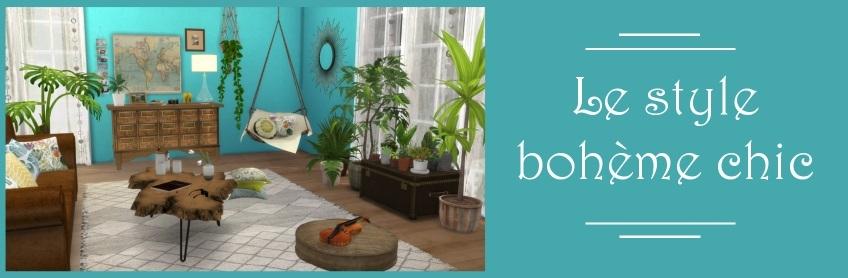 deco boh me chic boho decor custom content cc sims 4. Black Bedroom Furniture Sets. Home Design Ideas