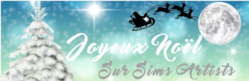 Joyeux Noël sur Sims Artists !