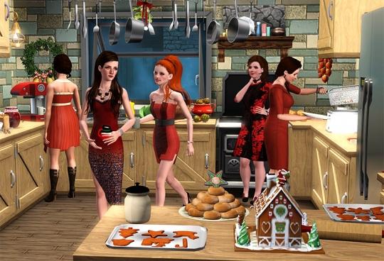 2  article joyeux noel sims artists equipe admins cuisine dinde