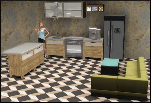 acces vip mode achat construction cas cuisine frigo four horloge machine à café évier plan de travail ilot