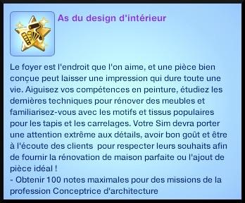 2 sims 3 ambition profession independante concepteur architecture souhait long terme as design interieur