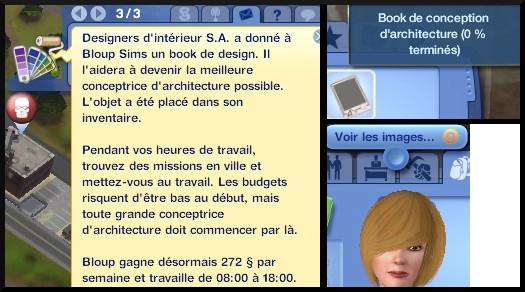 7 sims 3 ambition profession independante concepteur architecture book architecte