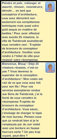 35 sims 3 ambition profession independante concepteur architecture trophee bravoure message