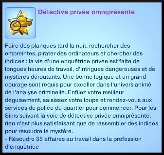 1 sims 3 ambition enqueteur souhait long terme detective prive omnipresent