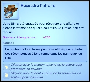12 sims 3 ambition enqueteur souhait resoudre enquete affaire mission