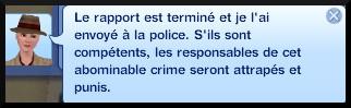 31 sims 3 ambition enqueteur message rapport planque terminé