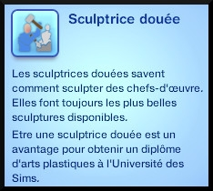 3 sims 3 ambition sculpture trait caractere sculpteur doué