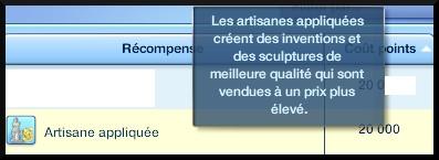 4 sims 3 ambition sculpture recompense long terme artisan appliqué