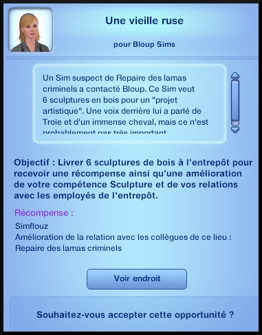 12 sims 3 ambition sculpture opportunite