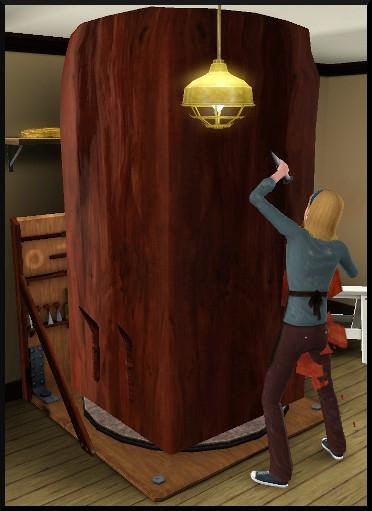 24 sims 3 ambition sculpture bloc bois
