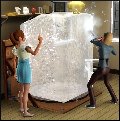 31 sims 3 ambition sculpture sim glace action