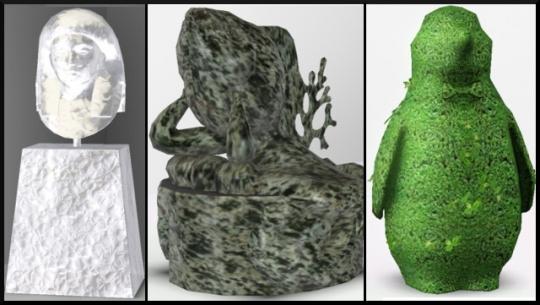 34 sims 3 ambition sculpture glace pierre topiaire