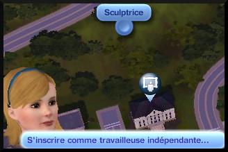 36 sims 3 ambition sculpture interaction hotel ville devenir sculpteur independant