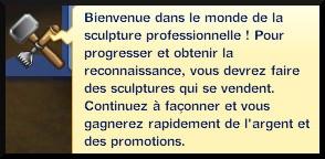 38 sims 3 ambition sculpture message bienvenue sculpteur independant