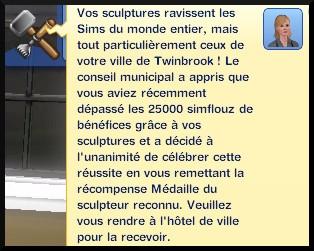 39 sims 3 ambition sculpture message 25000§ vendu