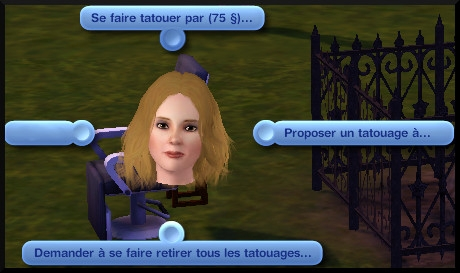 9 sims 3 ambition carriere styliste tatoueur interaction chaise parc