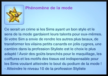 11 sims 3 ambition carriere styliste tatoueur souhait long terme phenomene mode
