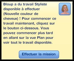 23 sims 3 ambition carriere styliste tatoueur message mission a effectuer