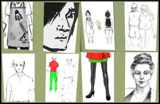 47 sims 3 ambition carriere styliste tatoueur croquis mode