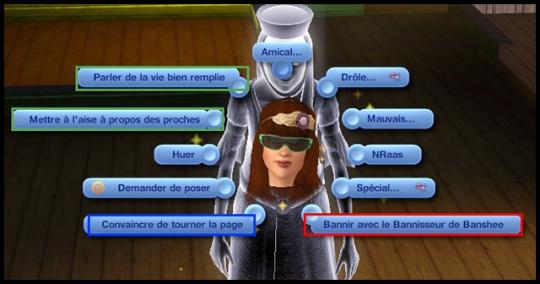 11 sims 3 ambition profession chasseur de fantomes interactions convaincre tourner la page bannir