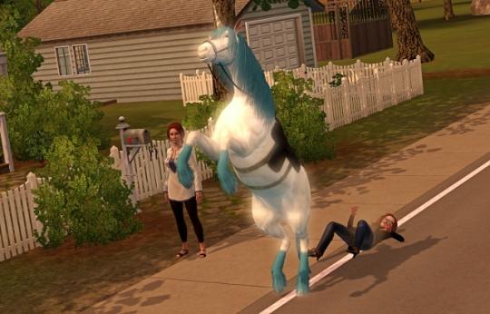 interview licorne tomber sur le dos par terre
