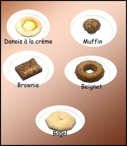 bagel danois à la crème geignet cookie muffin