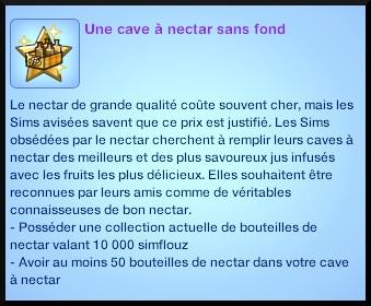 2 sims 3 destination aventure fabrication nectar souhait long terme cave  sans fond