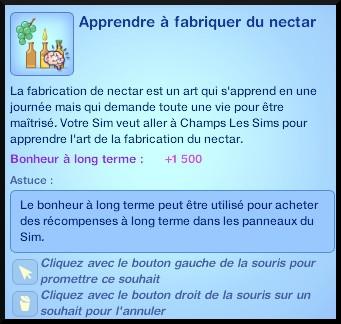 3 sims 3 destination aventure fabrication nectar souhait apprendre competence