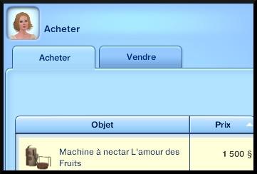 6 sims 3 destination aventure fabrication nectar caisse enregistreuse plantation achat machine