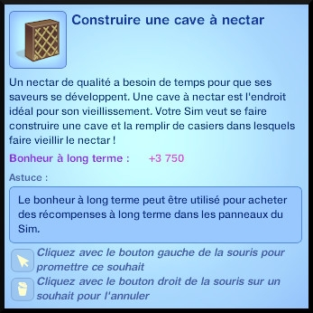 10 sims 3 destination aventure fabrication nectar faire cave casier