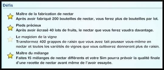 35 sims 3 destination aventure fabrication nectar journal competence defis