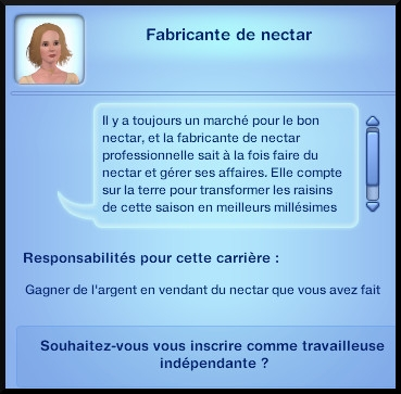 46 sims 3 destination aventure fabrication nectar opportunite emploi fabricant independant