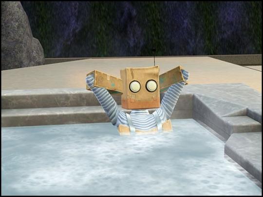 forme robots dans un jacuzzi