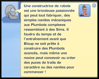 35 sims 3 en route vers le futur nouveautes competence construction robot plumbot message