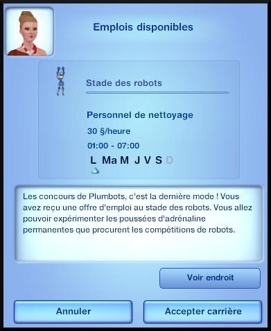40 sims 3 en route vers le futur nouveautes emploi stade des robots