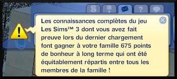 82 sims 3 en route vers le futur nouveautes ecran chargement interactif jeu message