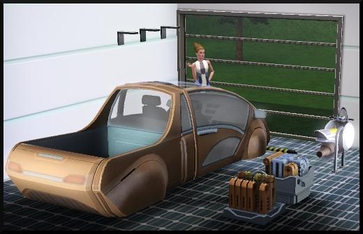 23 sims 3 en route vers le futur CAS objets voiture aeroscooter garage