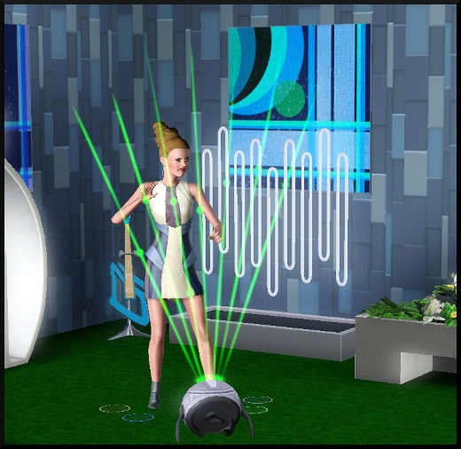 57 sims 3 en route vers le futur CAS objets rythmo laser