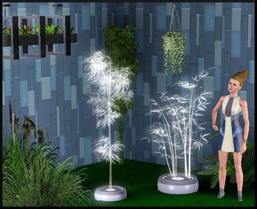 60 sims 3 en route vers le futur CAS objets plantes holographiques