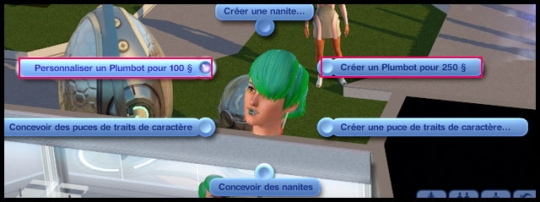 2 sims 3 en route vers le futur plumbot interaction creer personnaliser