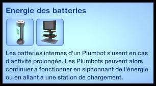 6 sims 3 en route vers le futur plumbot energie batterie