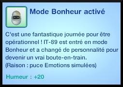 48 sims 3 en route vers le futur plumbot emotion simulee mode bonheur active moodlet