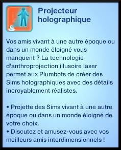 68 sims 3 en route vers le futur plumbot puce projecteur holographique