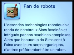3 sims 3 en route vers le futur competition robot carriere stade robot trait caractere fan robot