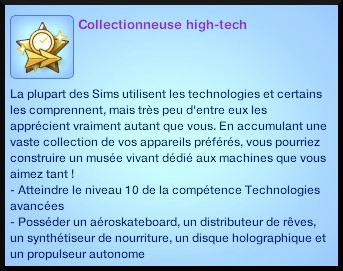 1 sims 3 en route vers le futur competence technologies avancees souhait long terme collectionneur hight tech