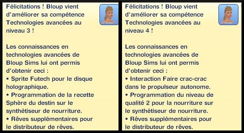 6 sims 3 en route vers le futur competence technologies avancees message niveau 3 4