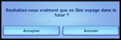 10 sims 3 en route vers le futur voyager dans le futur message souhaitez vous voyage futur