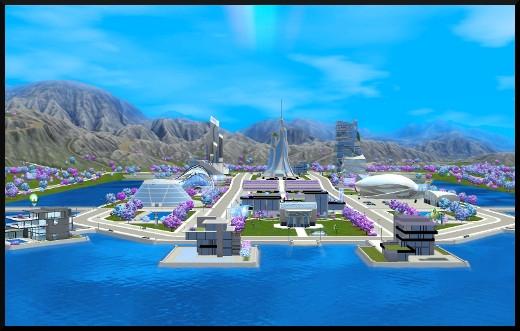 75 sims 3 en route vers le futur voyager dans le futur futur utopique vue oasis landing