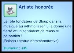 113 sims 3 en route vers le futur voyager dans le futur statue commémorative artiste illustre rythmo laser moodlet