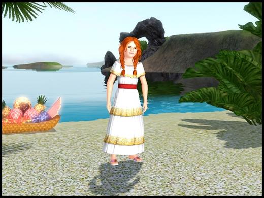 île de rêve robe fillette